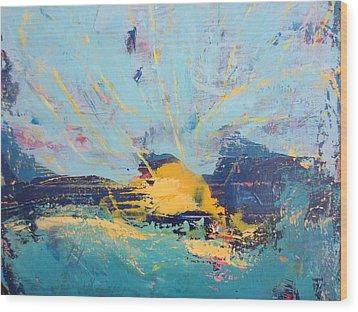 Soleil De Joie, Extrait Wood Print