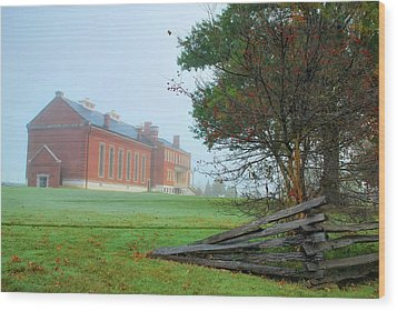 Wood Print featuring the photograph Solemn Morning - Fort Smith National Historic Site  by Gregory Ballos