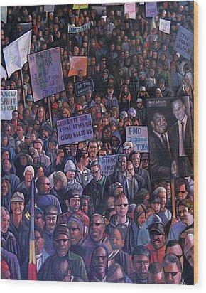 Solidarity Wood Print by Curtis James