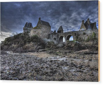 Solidor At Dusk Before A Storm Wood Print by Karo Evans
