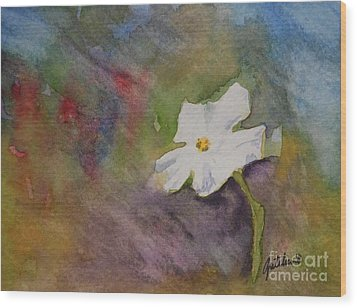 Solitary Flower Wood Print by Gretchen Bjornson