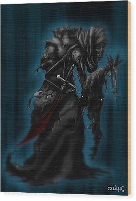 Solitiary Reaper Wood Print by Rahul Chakraborty