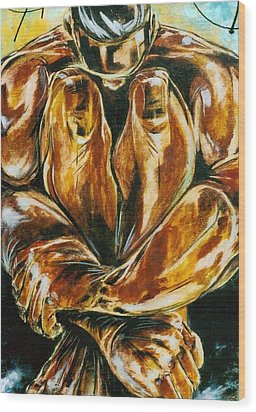 Solitude Wood Print by Hasaan Kirkland