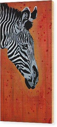 Solitude In Stripes Wood Print by Tai Taeoalii