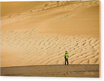 Wood Print featuring the photograph Solitude In The Dunes by Rikk Flohr