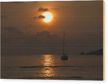 Wood Print featuring the photograph Solitude by Jim Walls PhotoArtist