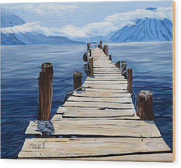 Crooked Dock  Wood Print