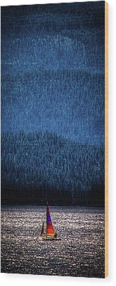 Wood Print featuring the photograph Solitude On Priest Lake by David Patterson