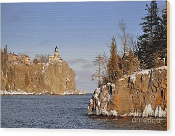 Solitude Rock Wood Print by Whispering Feather Gallery