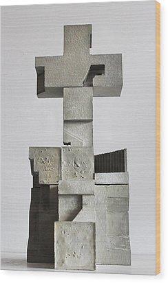 Soma Structure 1 Wood Print by David Umemoto