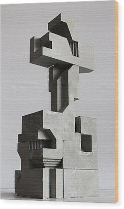 Soma Structure 2 Wood Print by David Umemoto