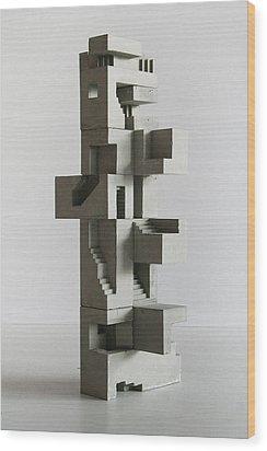 Soma Structure 5 Wood Print by David Umemoto