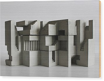 Soma Structure 7 Wood Print by David Umemoto