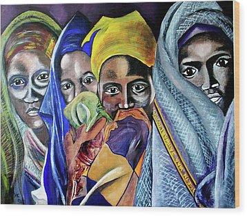 Somali Women Wood Print by Miriam Kalb