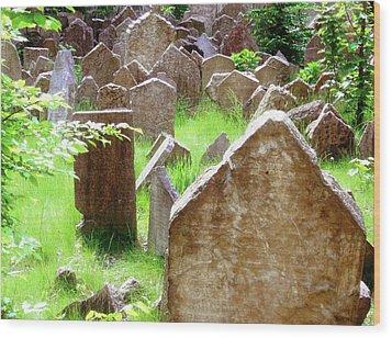 Somber Granite Wood Print by Patrick Murphy