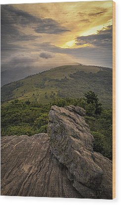 Rocky Sunset - Roan Mountain Wood Print