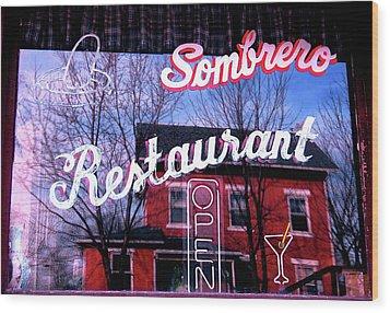 Sombrero Restaurant Wood Print by Jame Hayes