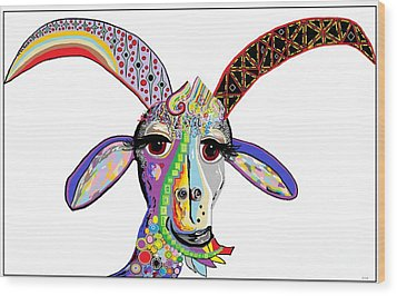 Somebody Got Your Goat? Wood Print by Eloise Schneider