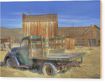 Wood Print featuring the photograph Somethin' 'bout A Truck by Donna Kennedy