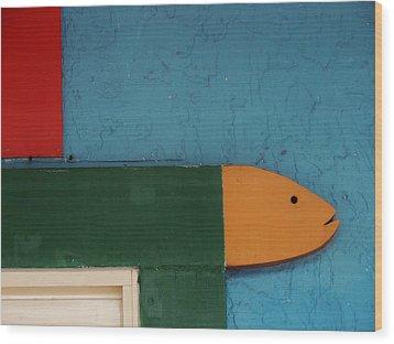 Something Fishy Wood Print