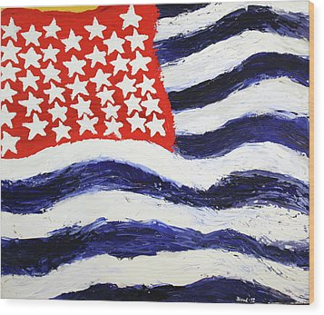 Wood Print featuring the painting Something's Wrong With America by Thomas Blood