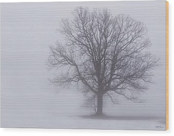 Sometime We Need The Fog Wood Print