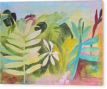 Wood Print featuring the painting Sometimes I Miss The Tropics by Sandy McIntire
