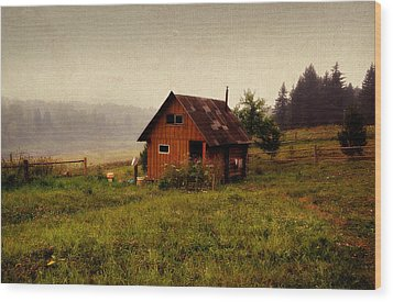 Somewhere In The Countryside. Russia Wood Print by Jenny Rainbow