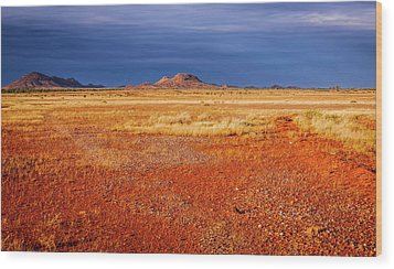 Somewhere In The Outback, Central Australia Wood Print