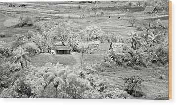 Somewhere In Vinales Wood Print by Eduard Moldoveanu