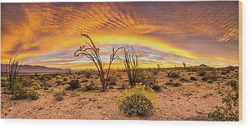 Wood Print featuring the photograph Somewhere Over by Peter Tellone