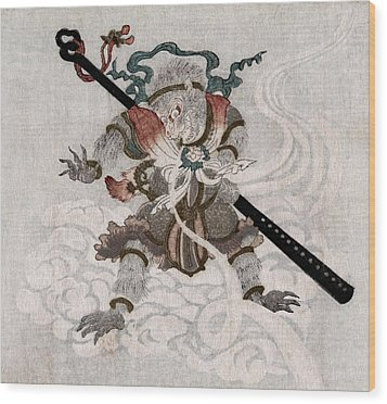 Son Goku, The Monkey King. Japanese Wood Print by Everett