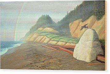 Wood Print featuring the painting Song For My Brother by Laurie Stewart