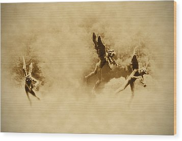Song Of The Angels In Sepia Wood Print by Bill Cannon