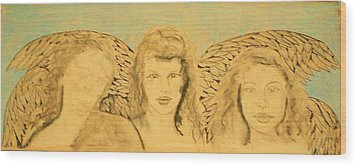 Song Of The Sisters Unfinished Wood Print by J Bauer