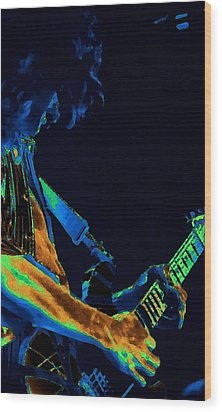 Sonic Guitar Explosions Art 1 Wood Print by Ben Upham