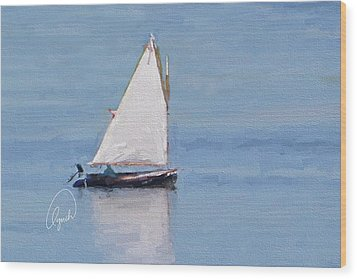 Sonny's Sailboat Signed Wood Print