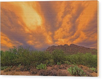 Wood Print featuring the photograph Sonoran Sonata H16 by Mark Myhaver