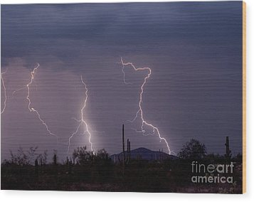 Sonoran Storm Wood Print by James BO  Insogna