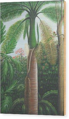 Sonrisa Wood Print by Toyo Perez