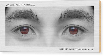 Son's Eyes Wood Print by James BO  Insogna