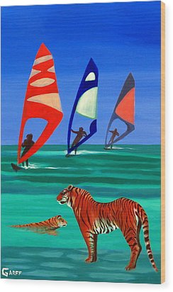 Tigers Sons Of The Sun Wood Print