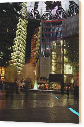 Sony Center Wood Print by Flavia Westerwelle
