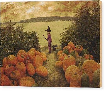 Soon Halloween Wood Print by Anastasia Michaels
