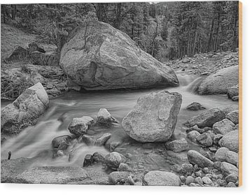 Soothing Colorado Monochrome Wilderness Wood Print by James BO Insogna