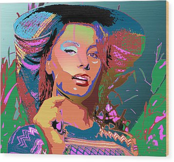 Wood Print featuring the digital art Sophia 4 by John Keaton