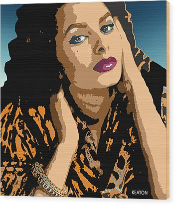 Wood Print featuring the digital art Sophia by John Keaton