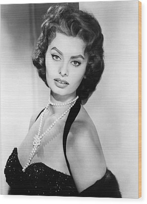Sophia Loren, Portrait Circa 1957 Wood Print by Everett