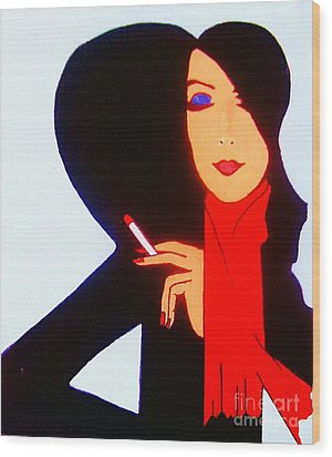 Wood Print featuring the painting Sophistication by Roberto Prusso