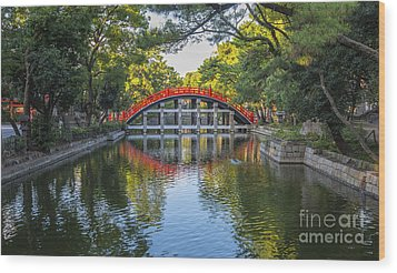 Sorihashi Bridge In Osaka Wood Print